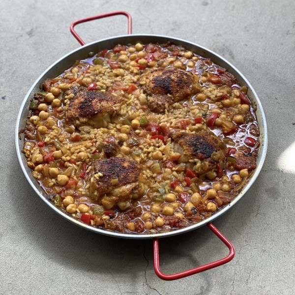 Image of Chicken Paella with Red & Green Peppers