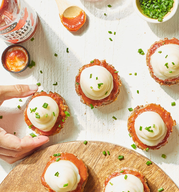 Image ofMeatloaf Cupcakes with Mashed Potato Frosting
