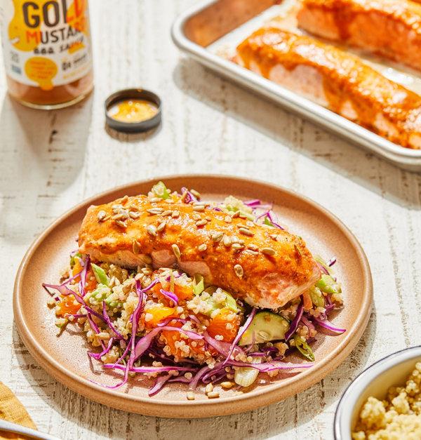 Image ofBBQ Salmon with Zesty Quinoa Salad