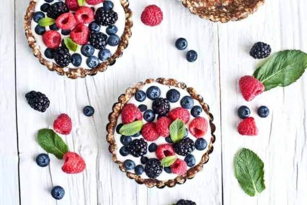Image ofRaw Berry Tarts with Coconut Cream