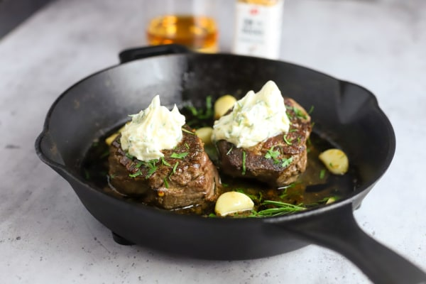 Image of Bourbon Marinated Steak with On The Rocks Compound Butter