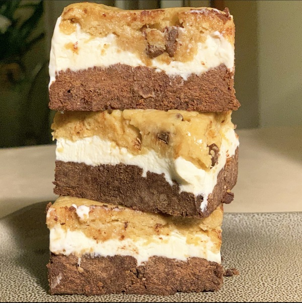 Image of FIt Butters Cookie Dough and Brownie Batter Protein Ice Cream Sandwich