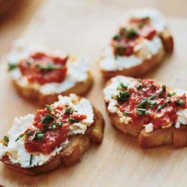 Image ofGoat Cheese & Roasted Red Pepper Crostini