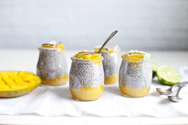 Image ofDessert Chia Pudding Parfait with Coconut Milk and Mango
