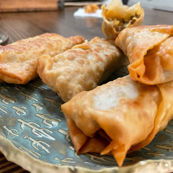Image of BBQ Cheese Burger Egg Rolls