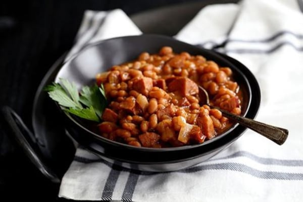 Image of Slow Cooker Smoky Baked Beans