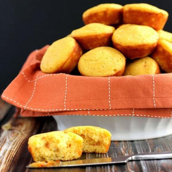 Image ofHot Pepper and Peach Cornbread Muffins