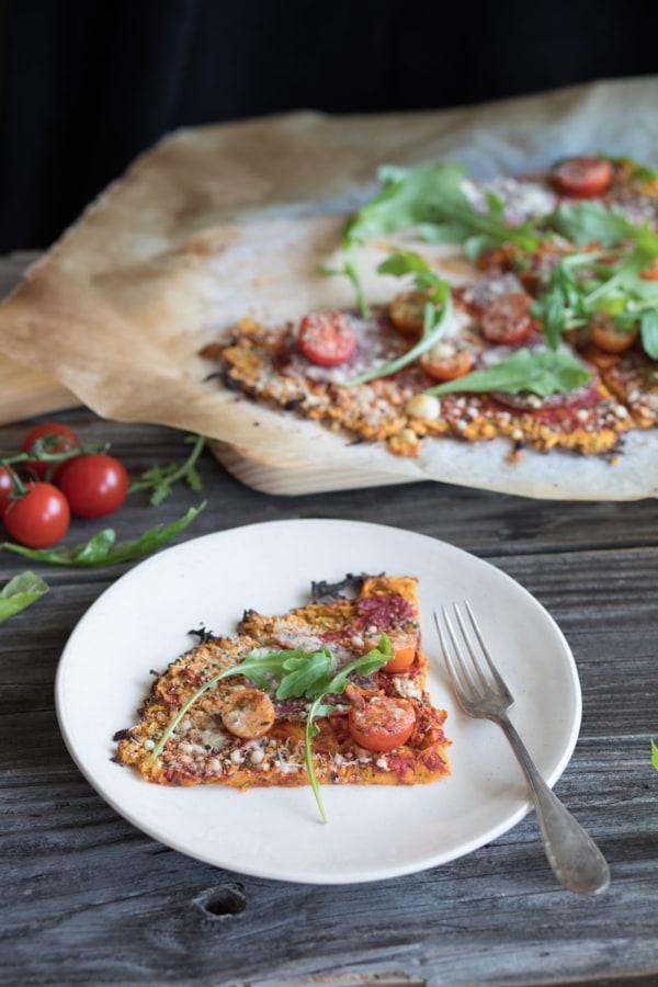 Image of Süsskartoffelpizza mit Rucola