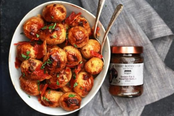 Image of Roasted Potatoes with Figs and Prosciutto