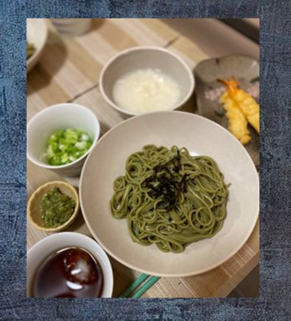 Image ofCold Green Tea Soba for Summer