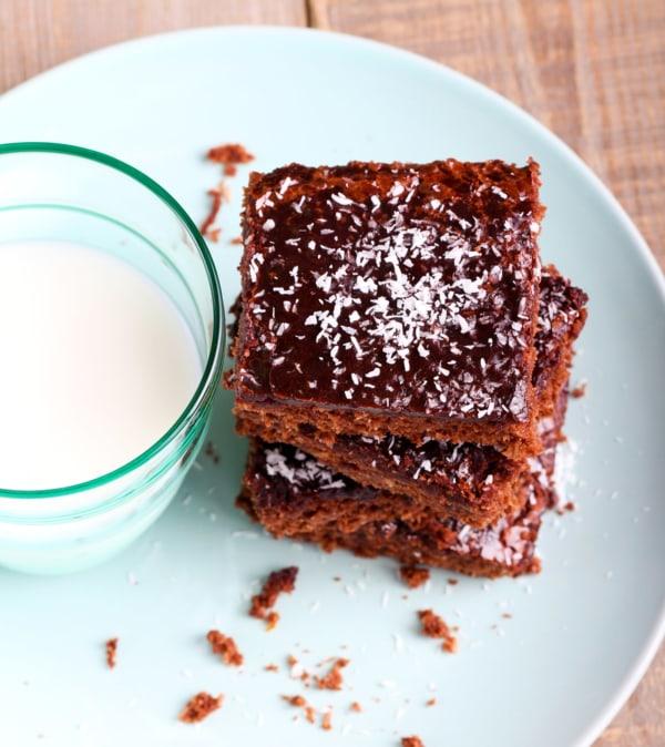 Image of Homemade Chocolate Coconut Brownies