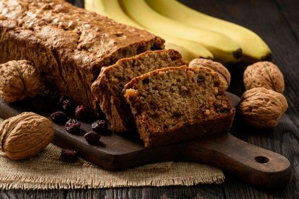 Image of Baked Banana and Walnut Cake