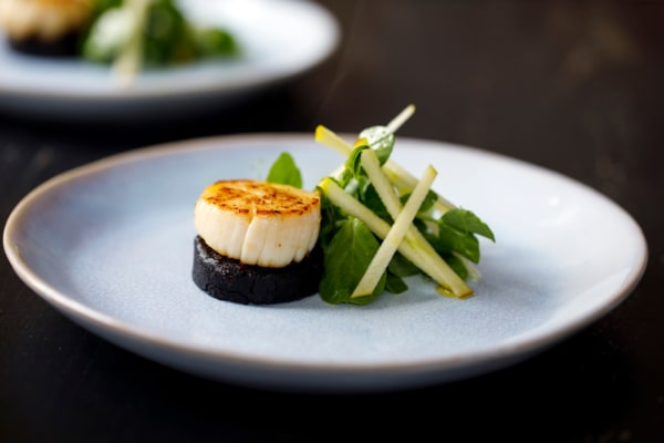 Image of Steamed Scallop with black pudding