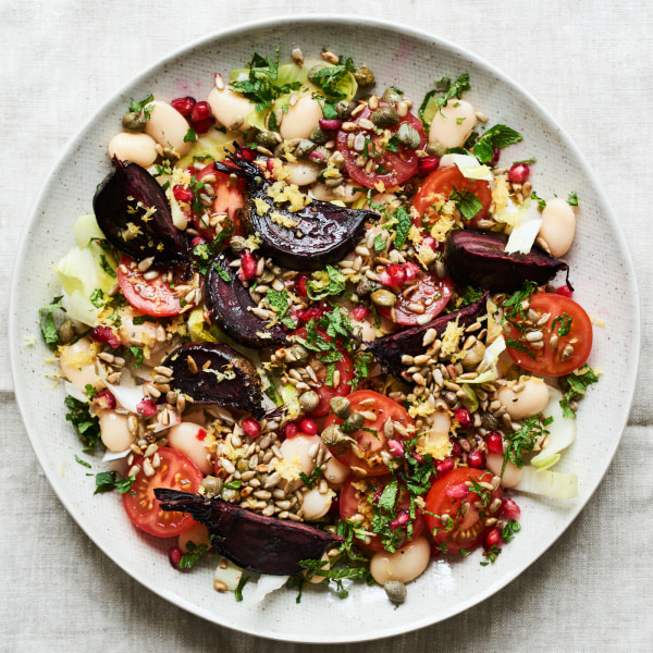 Image of Roasted Beetroot + Butter Bean Salad