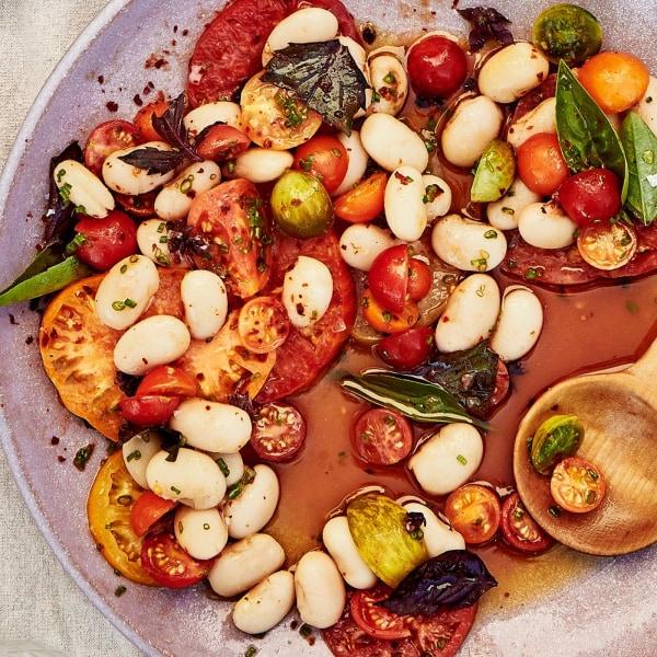 Image ofQueen Butter Beans + Tomato Vinaigrette