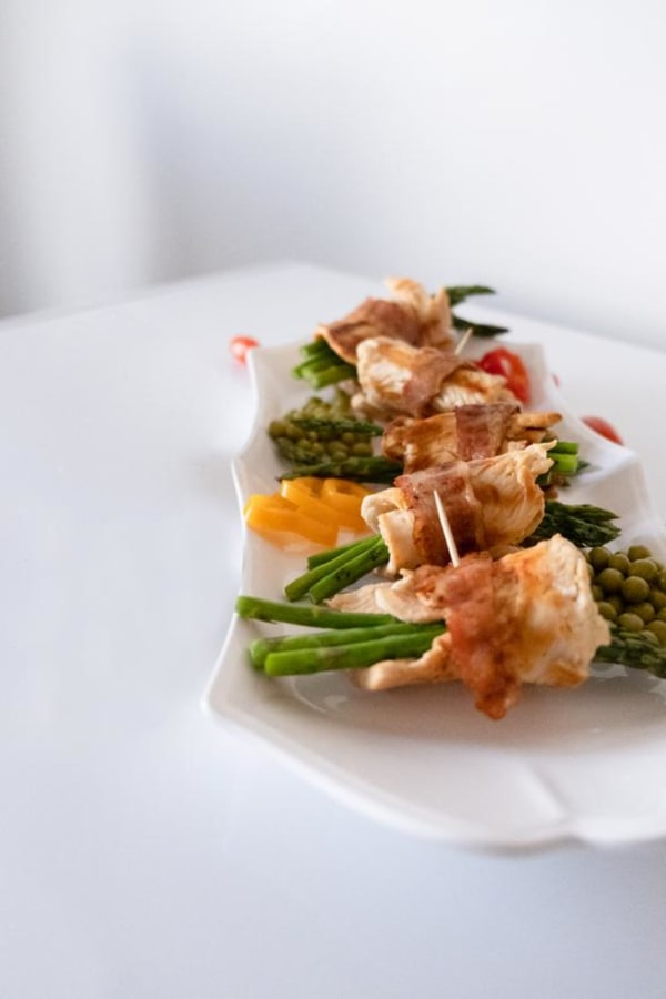 Image ofBacon Wrapped Chicken and Asparagus