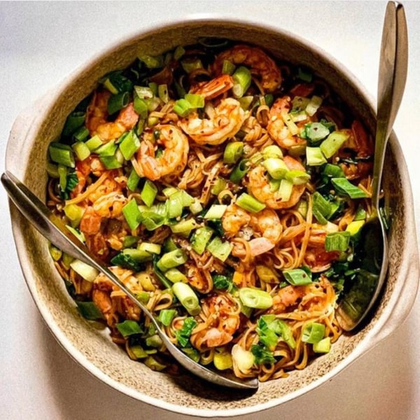 Image ofSpicy Shrimp Noodles with Bok Choy and Scallions