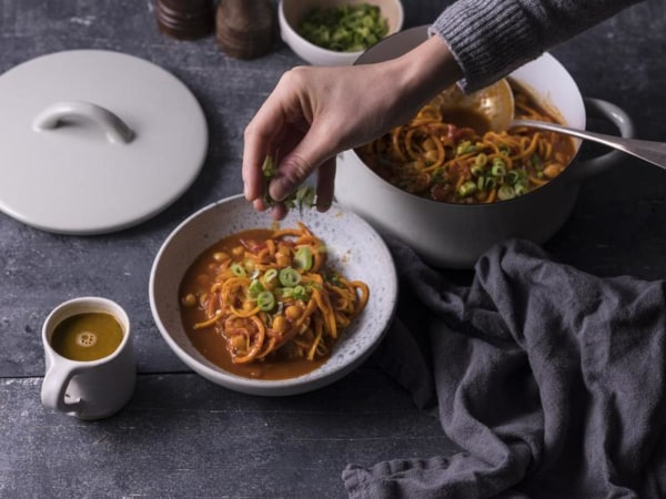 Image ofWhite Sweet Potato Spirals Curry Soup