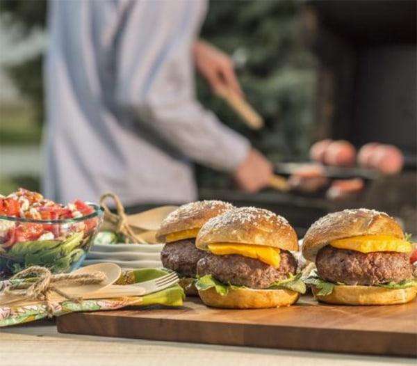 Image ofHorseradish Steak Burger on a Pretzel Bun