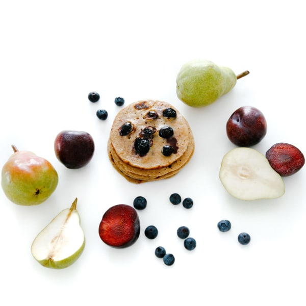 Image of Nourishing Apple, Pear & Blueberry Pancakes