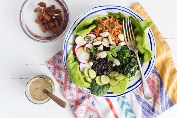 Image ofDragon bowl with Vegetables, Lentils and Activated Almonds