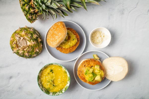 Image ofSalmon Burgers with Mango-Pineapple Salsa
