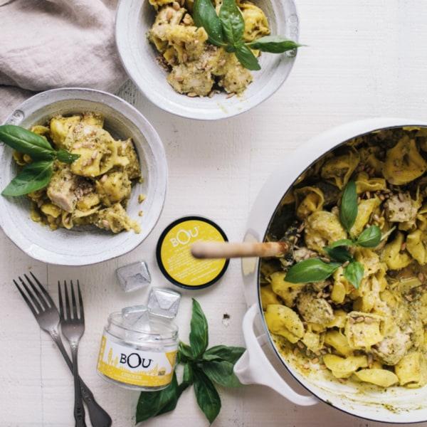Image ofOne Pot Pesto Tortellini with Chicken