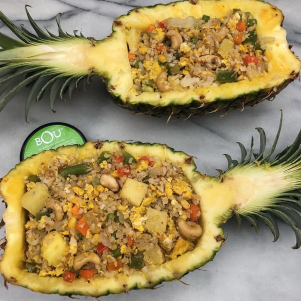 Image ofCauliflower Fried Rice in Pineapple Boats