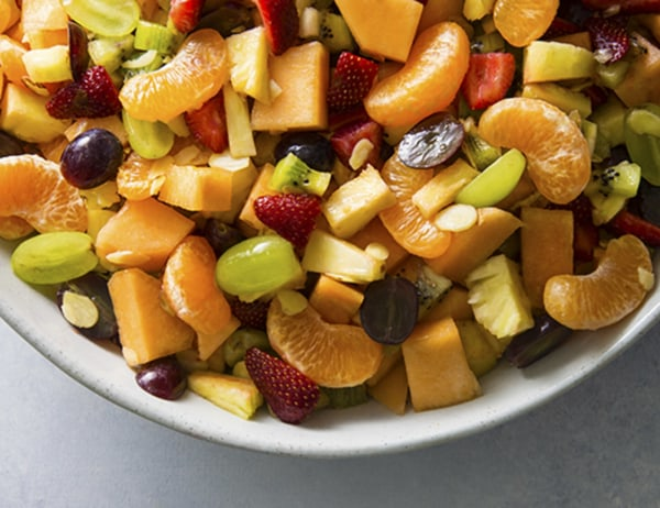 Image of Fruit Salad with Basil Simple Syrup