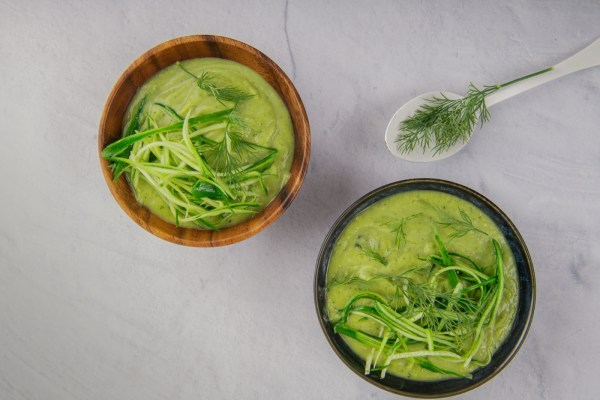 Image of Chilled Cucumber Soup with Avocado