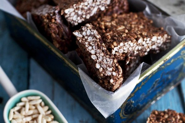 Image ofSoft and Chewy Chocolate-Hemp Squares with Coconut