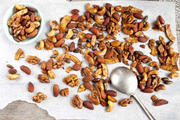 Image ofHomemade Spiced Nuts and Coconut Strips
