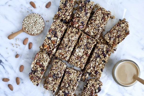 Image ofChocolate, Almond and Toasted Buckwheat Bars
