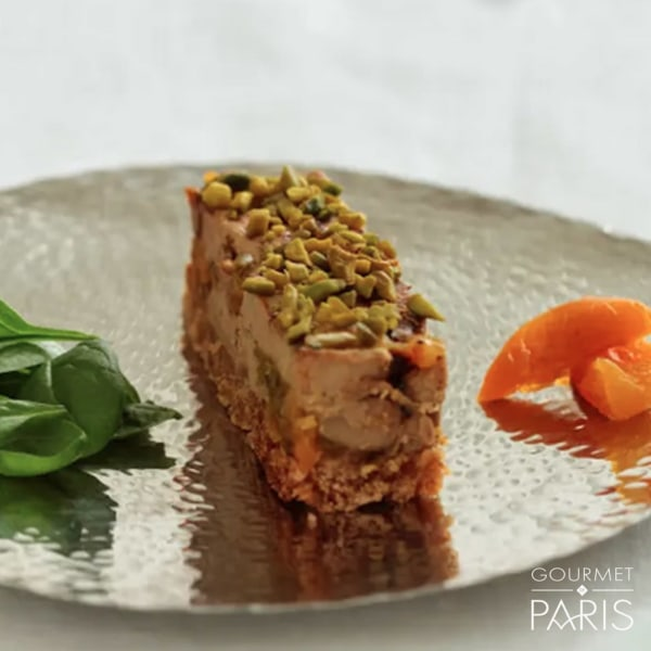 Image ofMarbled Foie Gras with pistachios,Apricots and Gingerbread