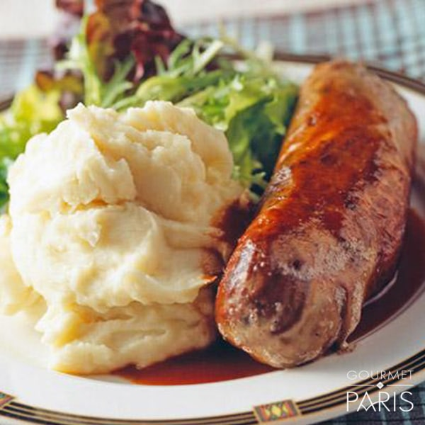 Image ofFrench roast andouillette with mashed potatoes