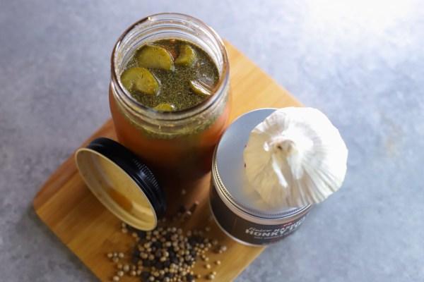 Image of Easy Nashville Hot Homemade Pickles