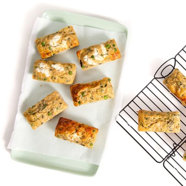 Image of Zucchini, Ricotta & Pea Frittatas