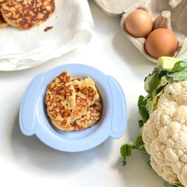 Image of Cheesy Cauliflower Fritters