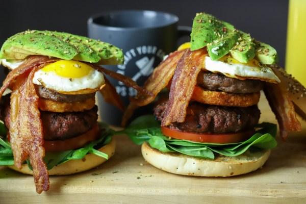 Image of Bacon Bomb Breakfast Burger