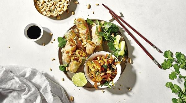 Image of Sommerrollen gefüllt mit Mangosalat Rezept