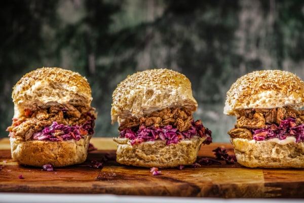 Image ofPulled Pork Sliders with Red Cabbage Slaw