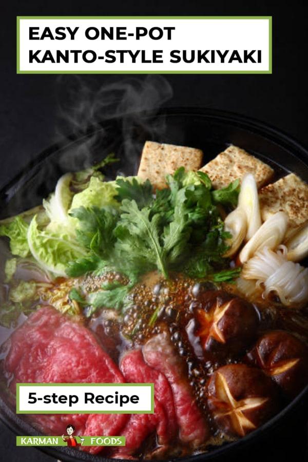 Image of 5-step One Pot Kanto-Style Sukiyaki
