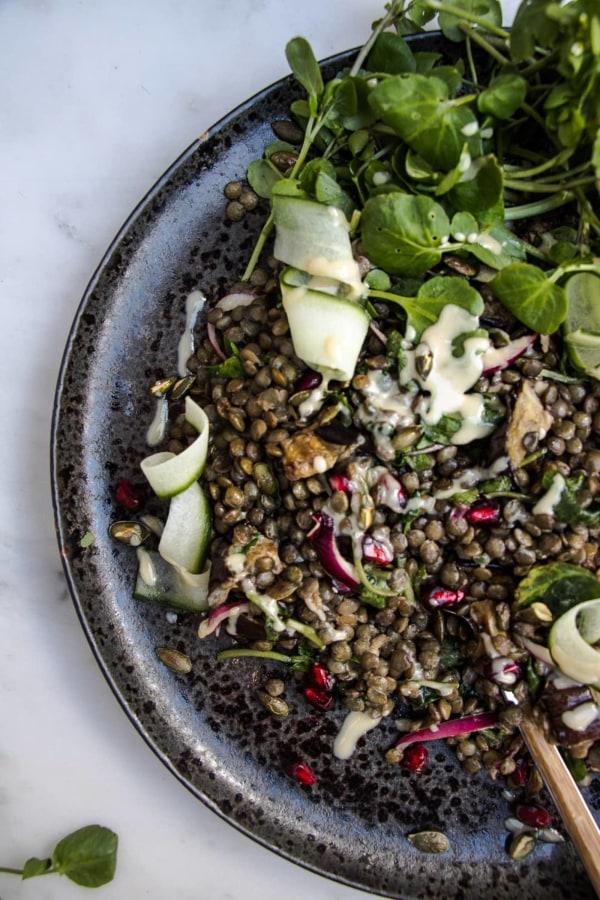Image ofLentil and Aubergine Salad