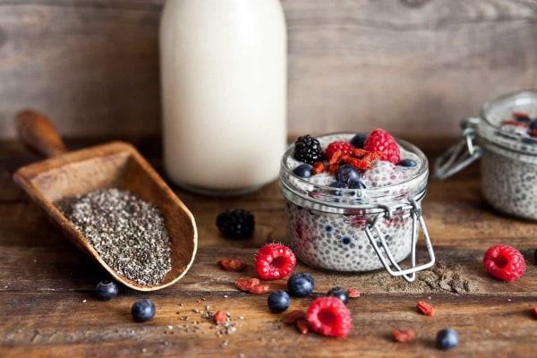 Image ofRecette de Pouding de Chia Vanille et Fruits