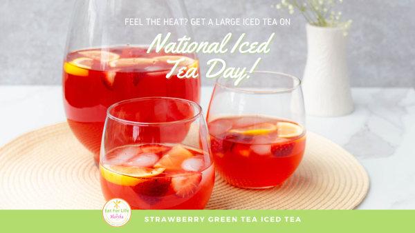 Image of Strawberry Green Tea Iced Tea