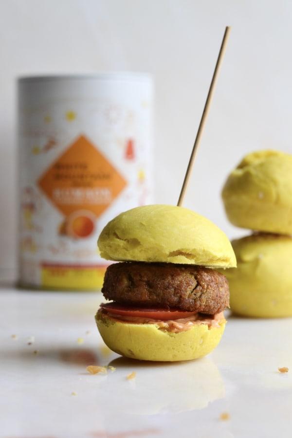 Image ofTurmeric Brioche Burger Buns