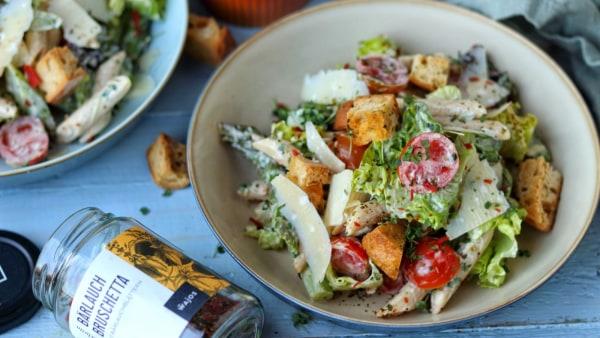 Italienischer Nudelsalat - Caesar-Dressing-Pastasalat