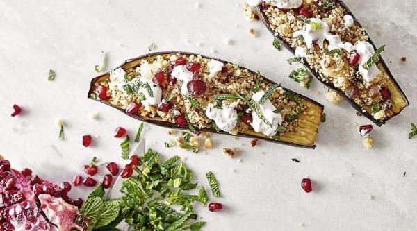 Image of Aubergine mit Minz-Couscous Rezept