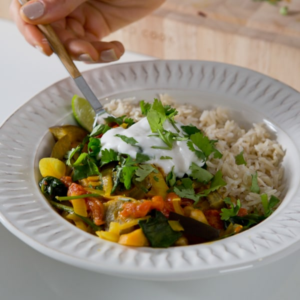 Image ofChickpea and Aubergine Curry