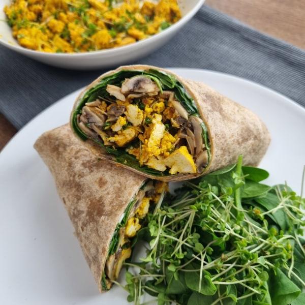 Image ofBroccoli & Tofu Scramble Breakfast Burrito